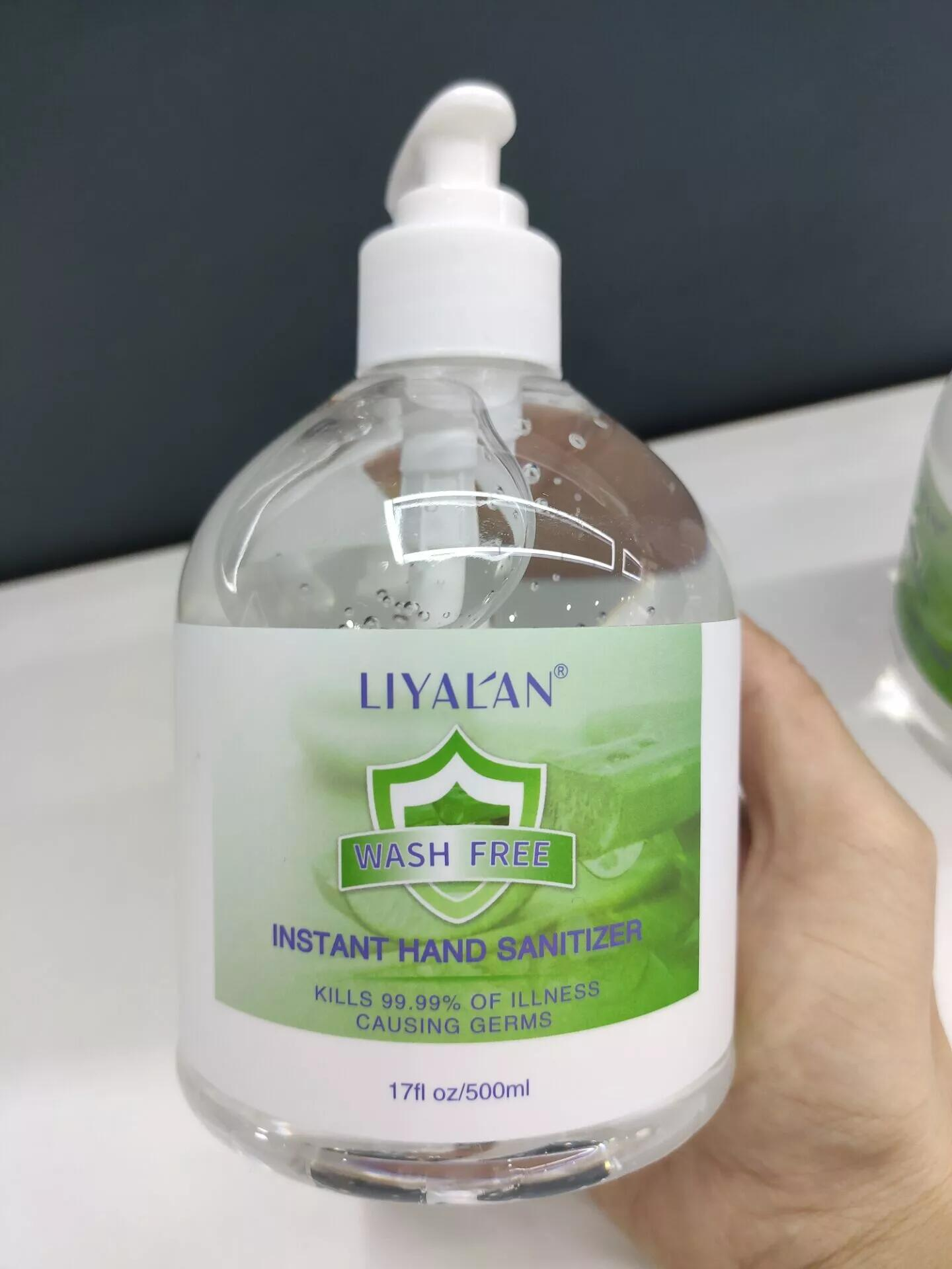Wholesale 500ml Antibacterial 75% Alcohol Gel Liquid Instant Hand Sanitizer Gel Featured Image