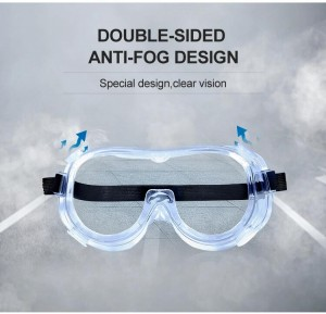 Safety Goggles with Universal Fit Safety Glasses with Clear Fog-Free Anti Scratch and UV Protection Coated Lenses Spectacles