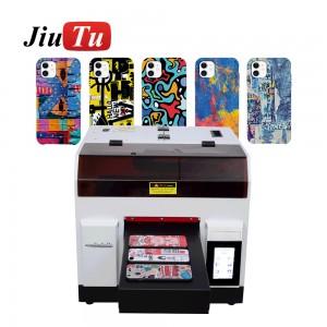 A4 Digital Flat Bed UV Printing Machine UV Inkjet Printer For Ceramic White Ink Double Circulation System