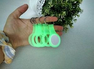 New Arrive Luminous TPU Clear Protector Case Keychain Holder For Apple Airtag Pet Collar