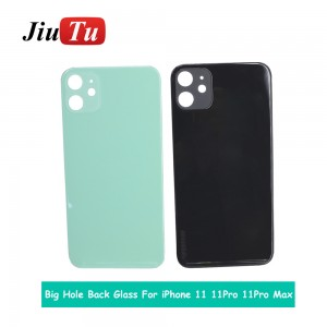 High Quality Big Hole Back Glass Replacement Parts For iPhone 8 8 Plus X XR XS Xs Max 11 11 Pro Battery Cover Rear Door Housing