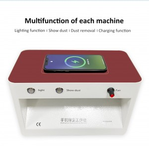 Jiutu Wireless Charger Dust Free Room Anti Dust Adjustable Wind Cleaning Room For Mobile Phone Screen Repair Workbench