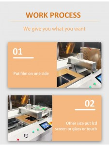 27 Inch SCA Film Apply Machine For iMac A1418 iPad Glass with Touch Double Sided Glue OCA Film Laminating Machine