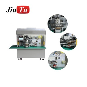 Jiutu Newest Fully Automatic Film Lamination Machine For iPhone Samsung OCA Polarizer Film Apply On LCD Screen Fast Speed