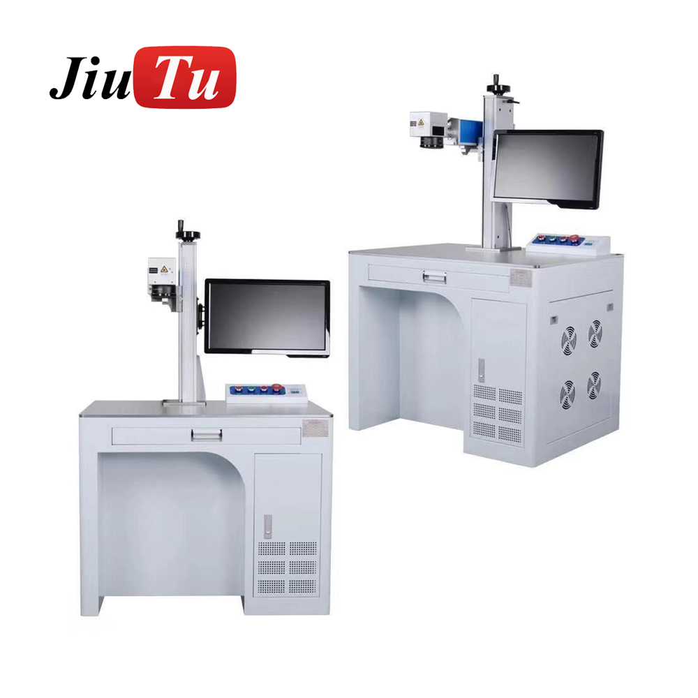 LCD Repair Portable Mini CNC Fiber Laser Marking Machine For Metal Engraving DIY Jiutu