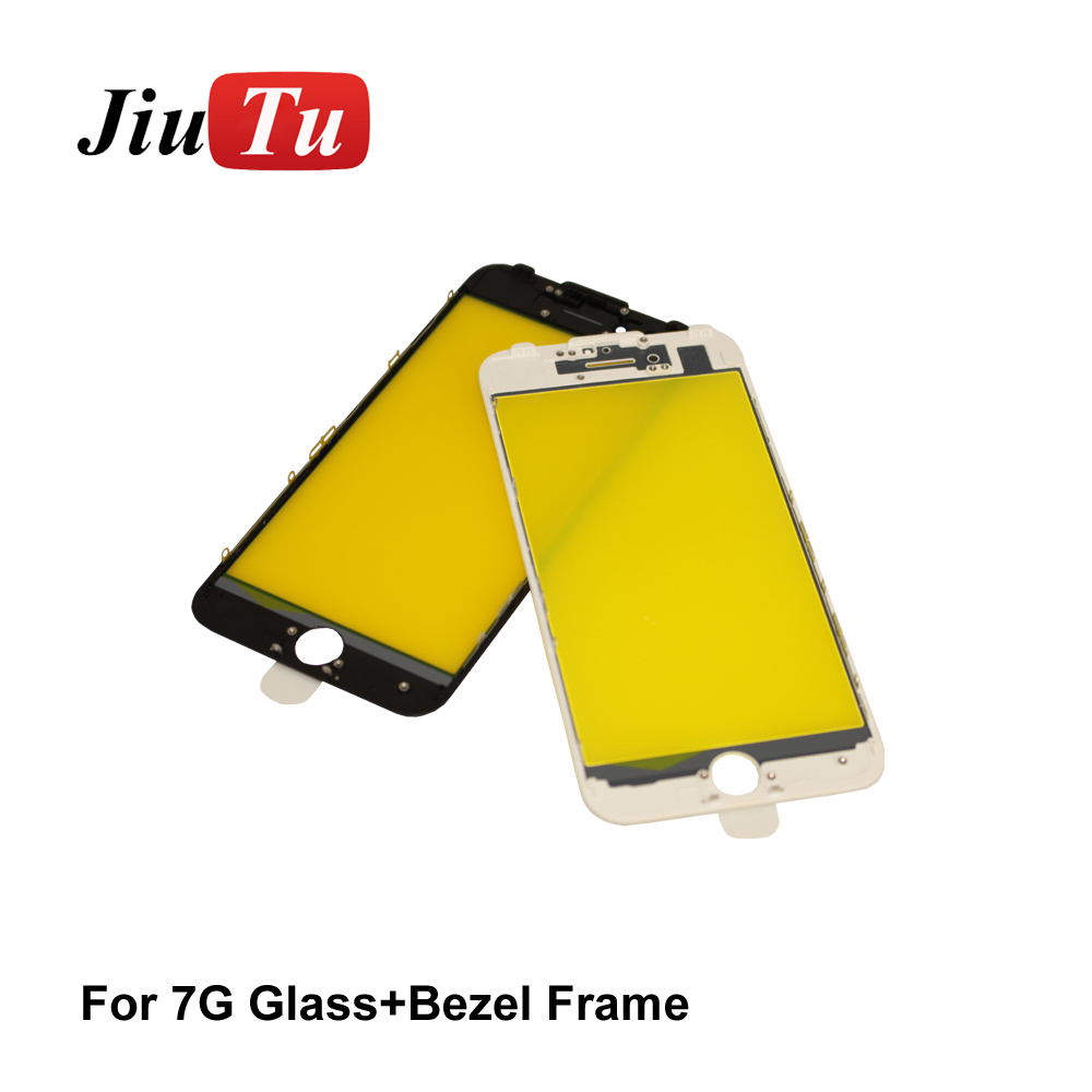 Fast delivery Auto Glass Making Machine - Cracked LCD Screen Refurbishment Black White LCD Glass with Bezel Frame Housing Cold Press for iPhone – Jiutu