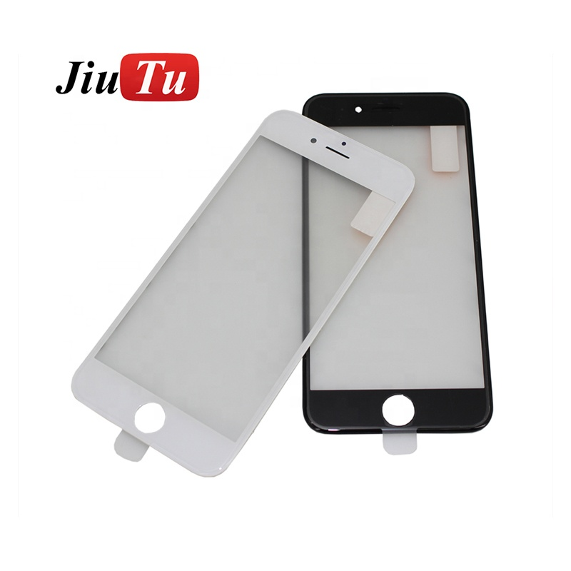 LCD Front Touch Screen Glass Outer Lens 6g Frame Bezel OCA Film Cold Press For iPhone