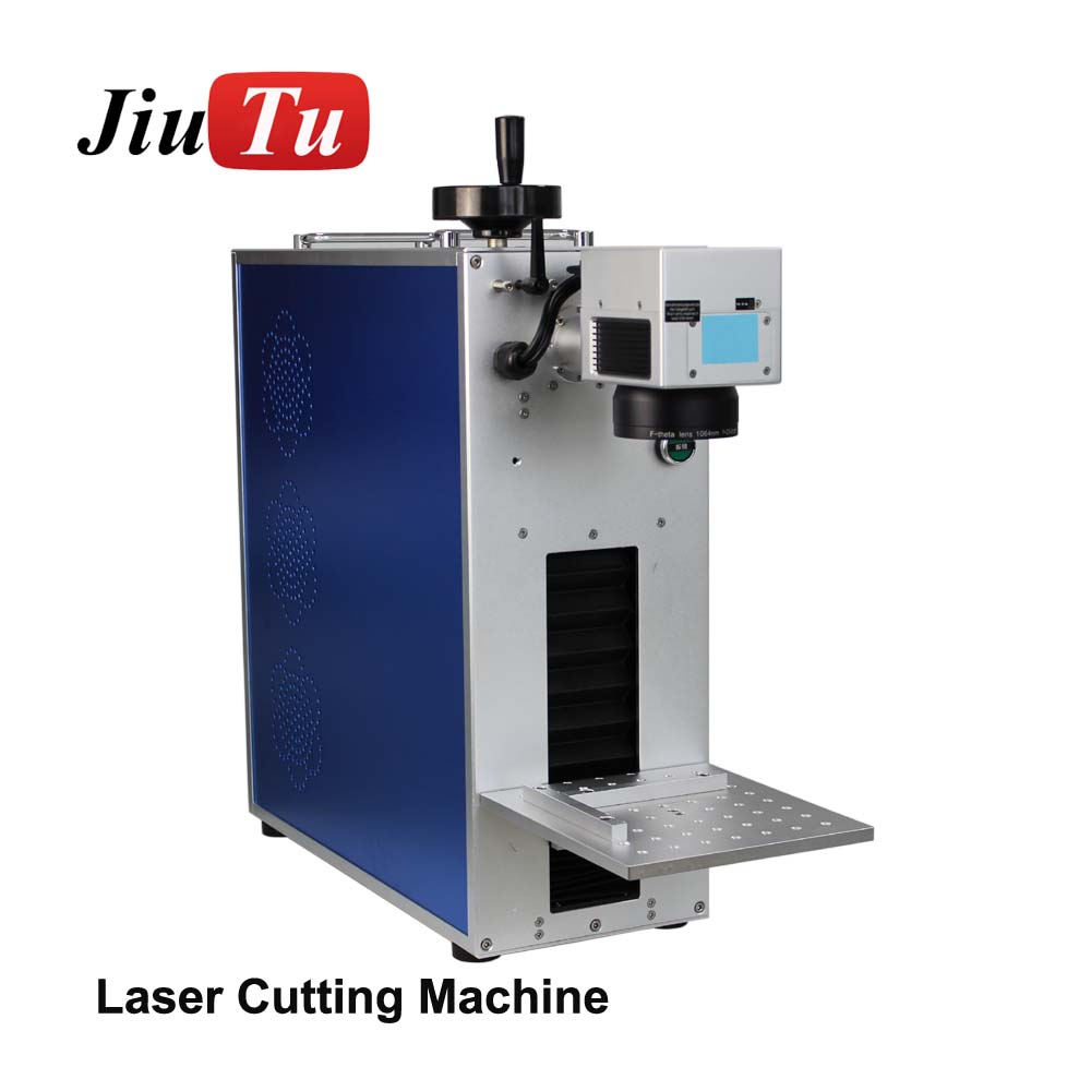 Small Fibre Laser Marking Machine  For Repair Mobile Phone Back Cover Separation