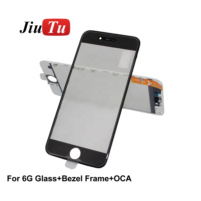 LCD Replacement 5.5inch Cold Press Assembly Glass With Frame OCA Film Lens For iPhone 6s Plus