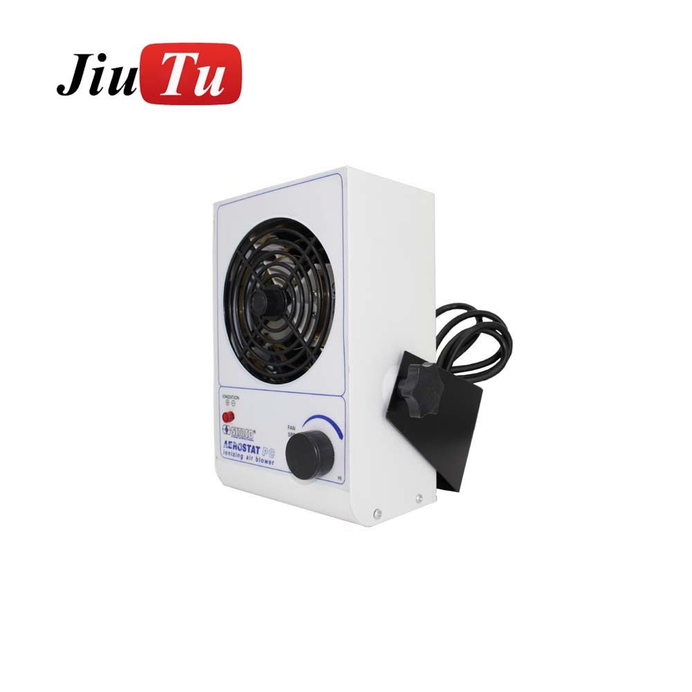 Jiutu Top Quality ESD Ionizing Air Blower For Print, electronic, plastic, 220V Ionizing Air Blower for 6G S7 edge S8 LCD Repair