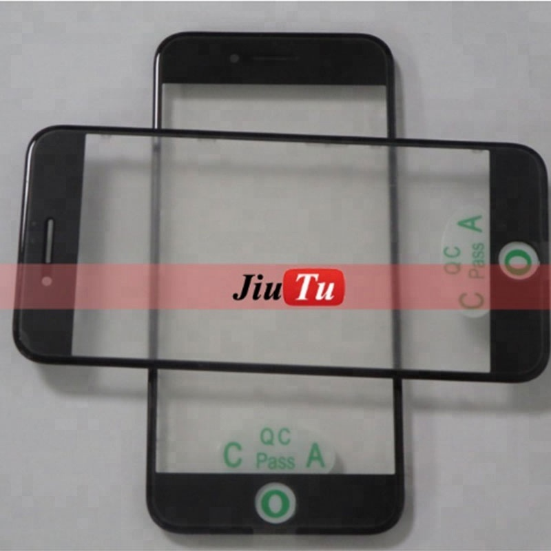 For iPhone 7 4.7inch LCD Screen Front Panel Glass with Bezel Frame OCA Film Lens Cover