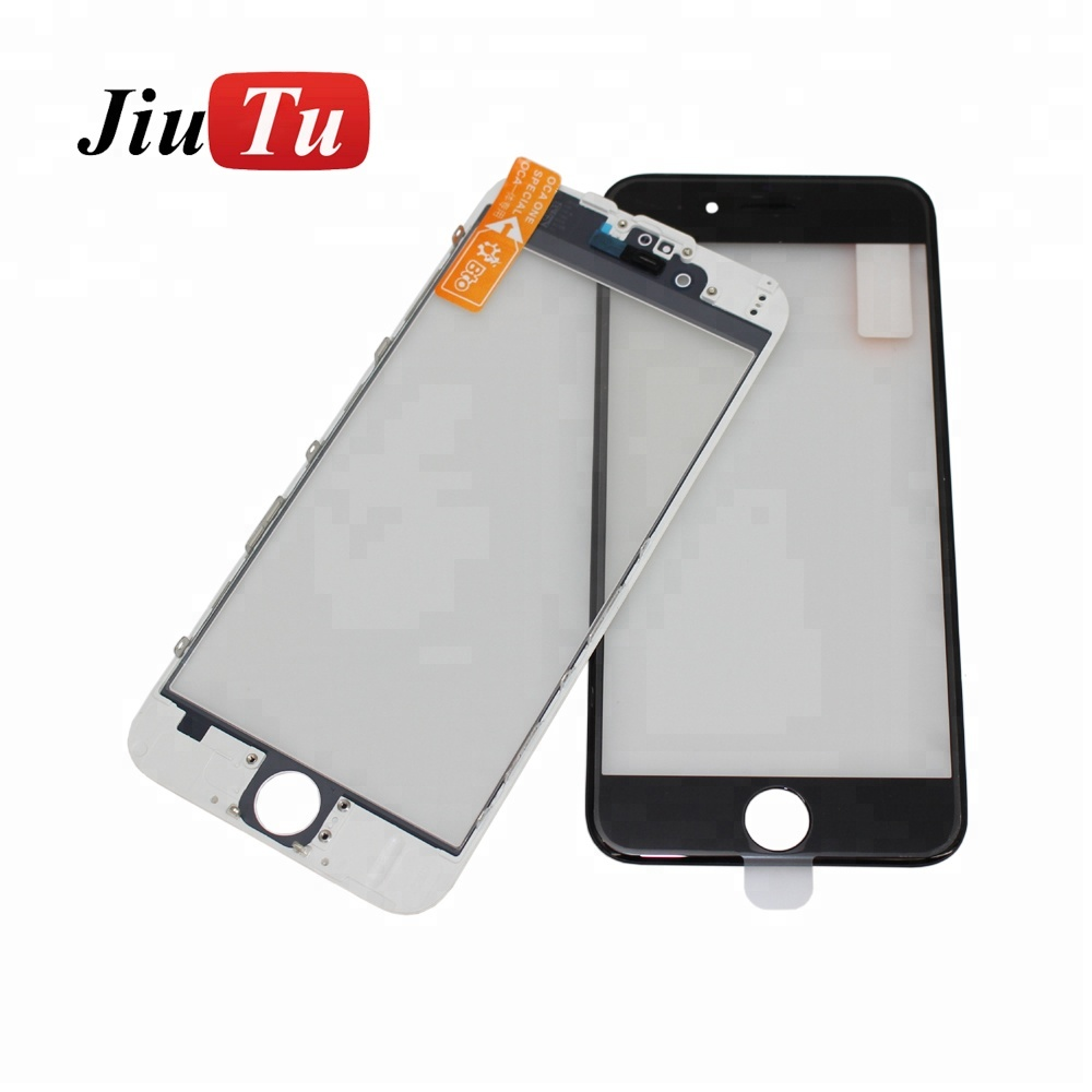 Cold Press LCD Front Glass + Bezel Frame + OCA Film Assembly for iPhone 6/6plus/6s/6s plus/7/7plus Refurbish