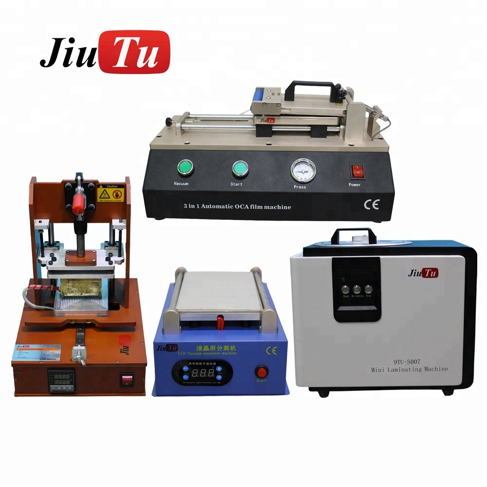 4pcs/set LCD Separator with Glue Remover + 3 in 1 Laminating Machine + all in one Laminator Machine for Phone LCD Screen Repair