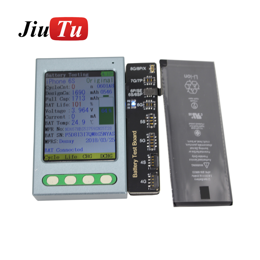 Battery Tester For iPhone X 8 8P 7 7P 6 6P 6S 6SP 5 5S 4 4S Battery Checker A Key Clear Cycle For iPad Mini Battery Test