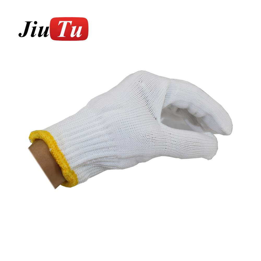 China New Product For Iphone X Replacement Front Glass - MOQ 30 Pairs White Linen Gloves for Mobile Phone LCD Screen Glass Repair Working Labor Liner Hand Safely Security Protector – Jiutu