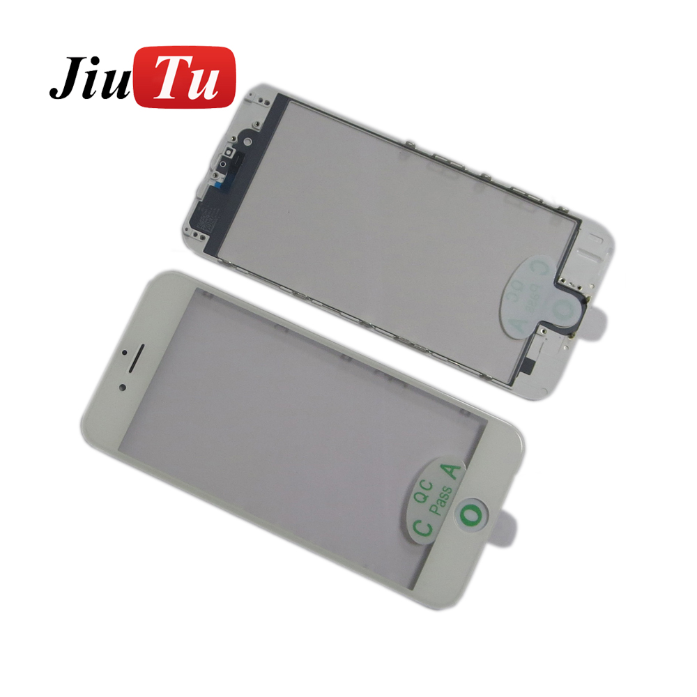 Outer Glass with Bezel Frame +OCA Cold Press For iPhone 6 plus 5.5 inch Pre-Assembled Cold Press Refurbish Parts