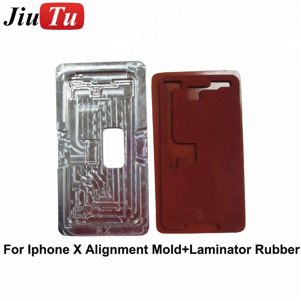 Broken Glass Replace Rubber Pad Replace Tools OLED Glass Alignment Mold OCA Lamination Machine Metal Mould For iPhone X