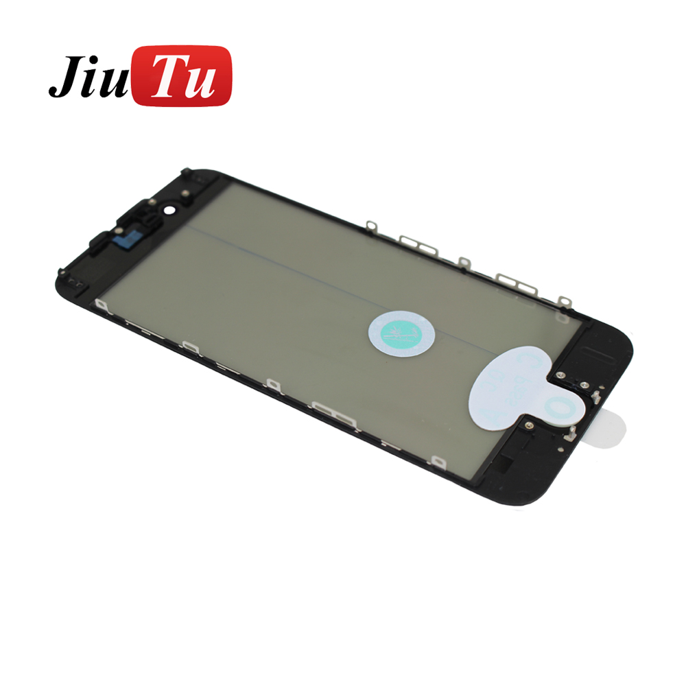 4 in 1 Cold pressed Middle Frame Bezel glass+ OCA polarized For iPhone 6S Front Glass Lens with Frame