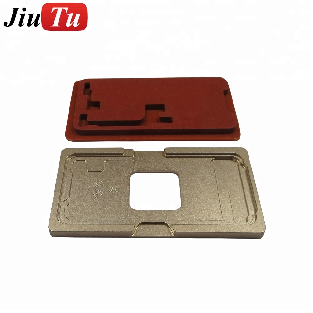Jiutu OLED Glass Alignment Mold with OCA Lamination Machine Rubber Pad for iPhone X Metal Mould Broken Glass Replace