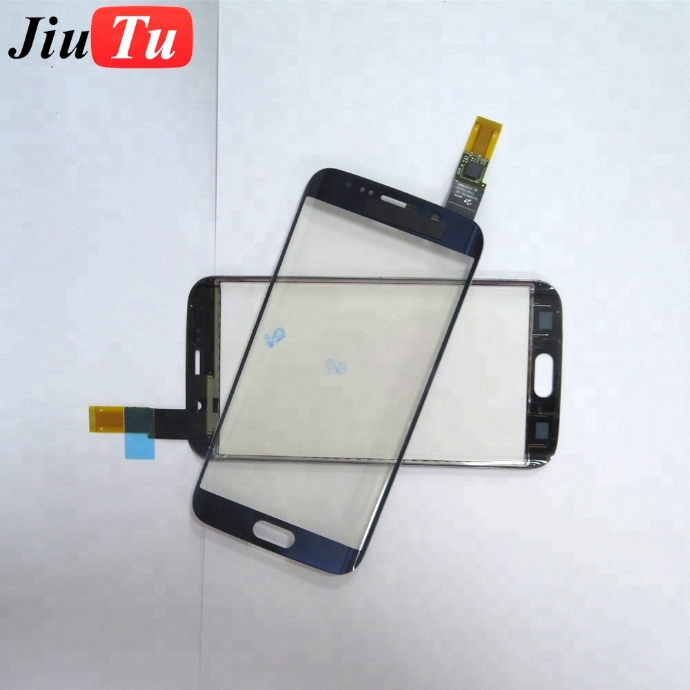 1pcs 100% Tested Good Front Glass with Touch Screen Flex Cable for S6 edge G925 / S6 edge plus/S7 edge G935 Repair White/Black