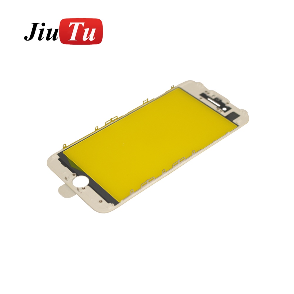 Excellent quality Lcd Goose Vacuum Laminating Machine - For iPhone 7 Plus 5.5 inch Black White Orginal Panel Glass + Bezel Frame Cold Press Pre-Assembly LCD Repair OCA Machines – Jiutu Featured Image