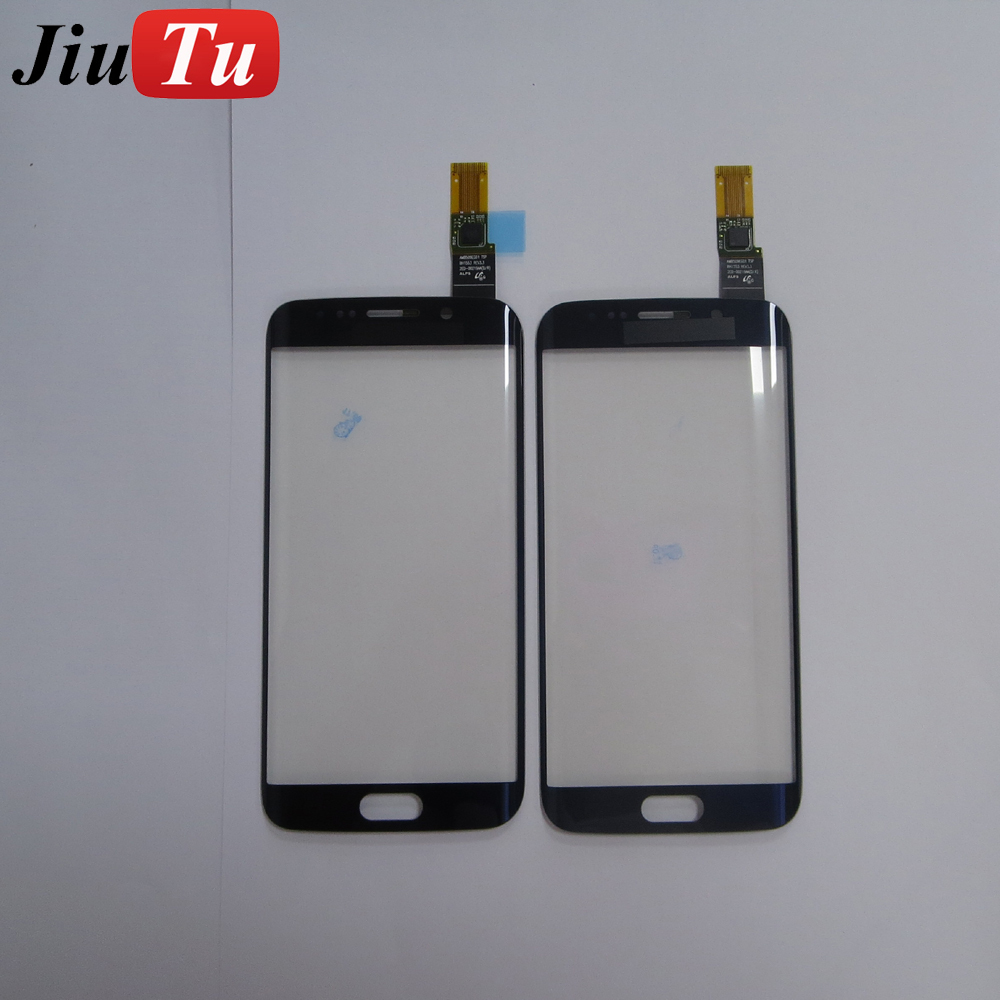 for Samsung S6 Edge Plus Crakced Glass Repair Parts OLED Screen Front Glass With Touch