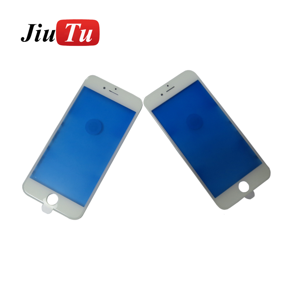 Jiutu 20Pcs Cold Press Original Outer Glass With Middle Frame Bezel For iPhone 8P 8 7 7P 6 6S 6SP Pre-Assembled Refurbishing Parts