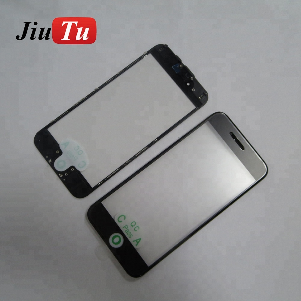 For iPhone 7/7plus LCD Screen Front Panel Glass + Bezel Frame + OCA Film Cold Press Replace Parts A+ High Quality Black/White