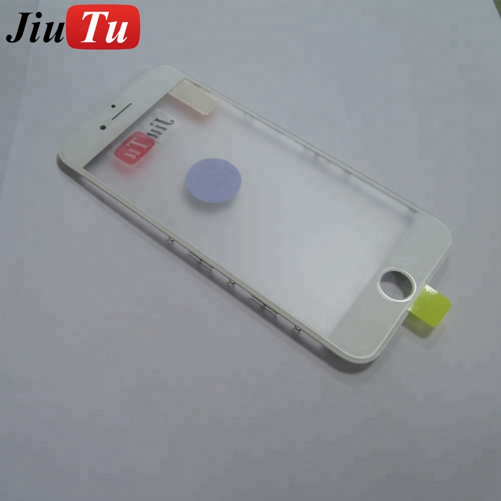 Wholesale Price China Original Frame Glass For Iphone - Cold Press Front Glass with Bezel Frame+OCA Film For iPhone 8 Plus Front Outer Glass Lens Replacement – Jiutu