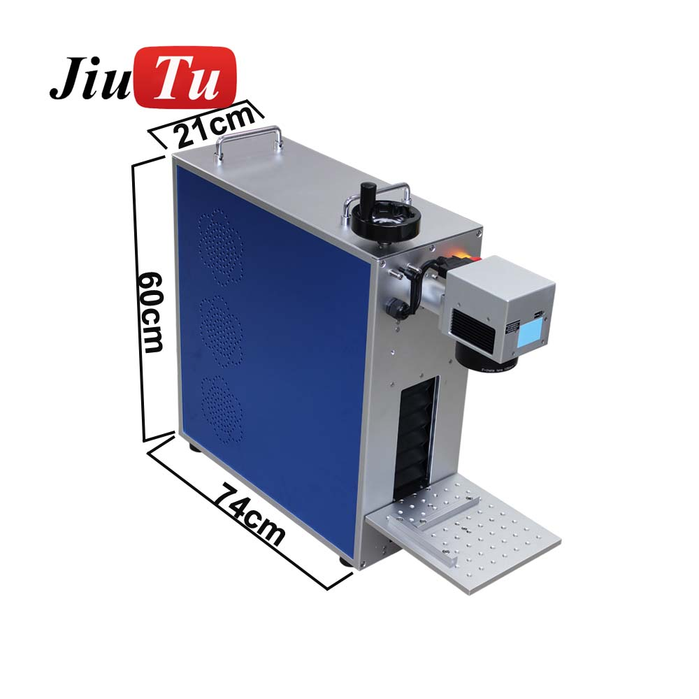Portable Mini Metal Fiber Laser Marking Machine For Mobile Phone