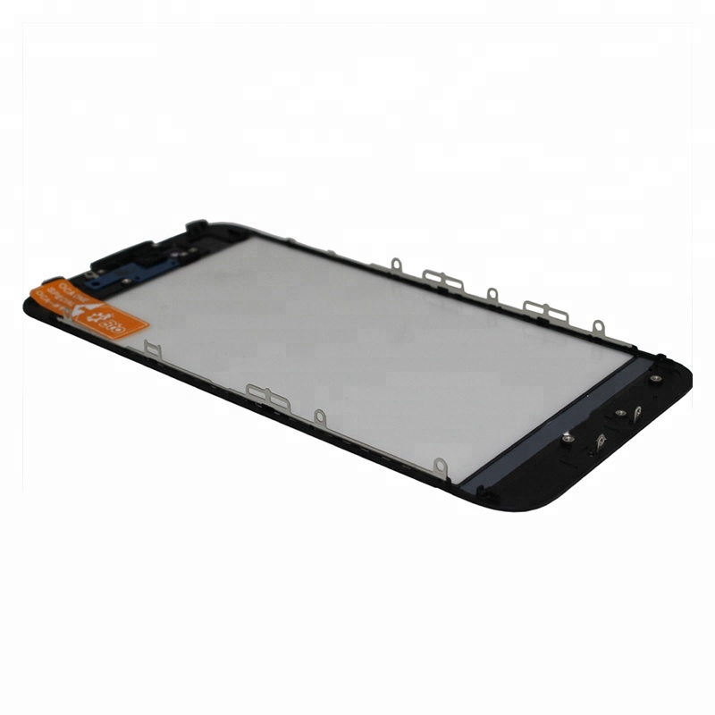 Oem Oca Lcd Display Front Screen Touch Glass Digitizer Panel With Bezel Frame For Iphone 7