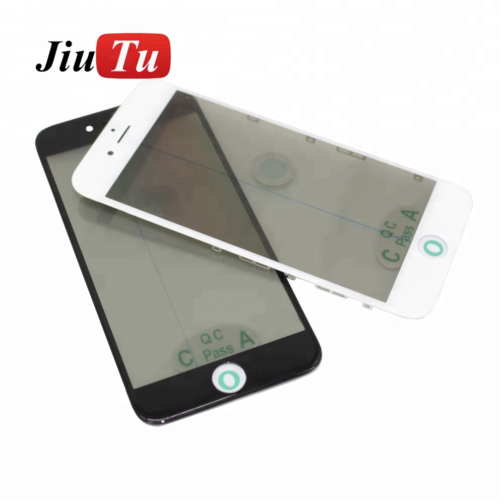 For iPhone 6 4.7inch Cold Press LCD Screen Touch Glass with Bezel Frame OCA Film Polarizer Film
