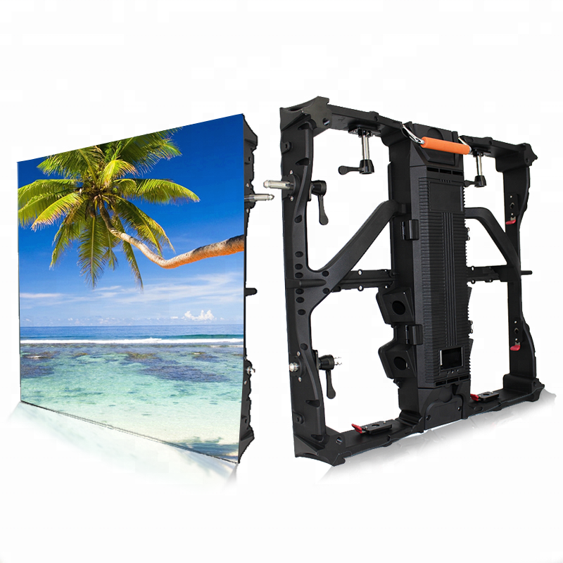Customized P10 Full Color Die Casting Magnesium Alloy Indoor Outdoor Video Led Display Screen Cabinet