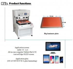 Customized Big OCA COF TPF SCA Vacuum Laminating Machine For Intelligent Advertising Screen ,Naked Eye 3D Screen Glass Bonding