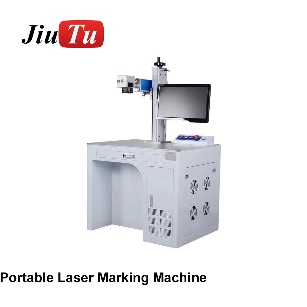 LCD Outer Glass Fiber Laser Marking Machine For iPhone X XS XR X Max Back Cover Separation No Need Mold