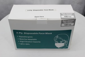 Face Mask Disposable 3D Ergonomic Designs Earloop CE FDA