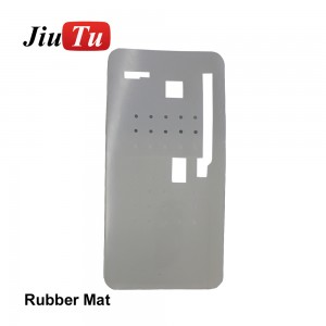 1 pcs For iPhone X XS LCD Touch Screen Display Laminating Rubber Mat Mobile Phone Repair Parts Glue Cleaning Separate Rubber