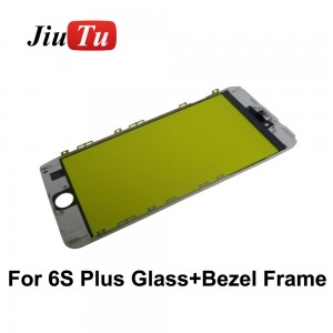 Jiutu 20Pcs Cold Press OEM Outer Glass With Middle Frame Bezel For iPhone 8P 8 7 7P 6 6S 6SP Pre-Assembled Refurbishing Parts