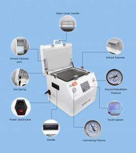 LCD Repair Laminating And Defoaming Integrated Machine 15 Inch Flat Surface Laminating Machine OCA Vacuum Pressing Machine