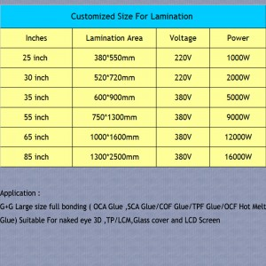 65 Inch Lcd Glass Repair Advertising Airport Self-Service Equipment Vacuum Oca Laminating Machine