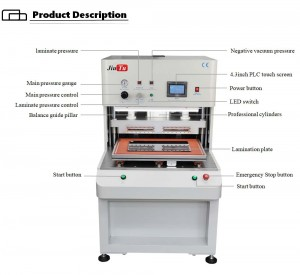 Big Size SCA TPF OCA Vacuum Laminating Machine For G+G Bonding Big Computer Car DVD Screen Lamination Jiutu
