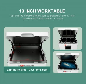 Newest Vacuum OCA Laminating Machine 13 Inch Flat Curved Screen Mobile Phone Tablet LCD Repair