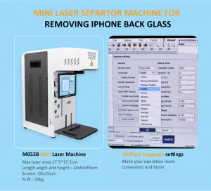 Automatic Laser Machine For iPhone Back Glass Removal 12 8 8P X XR 11Promax Rear Glass Separation Engraving Marking Machine