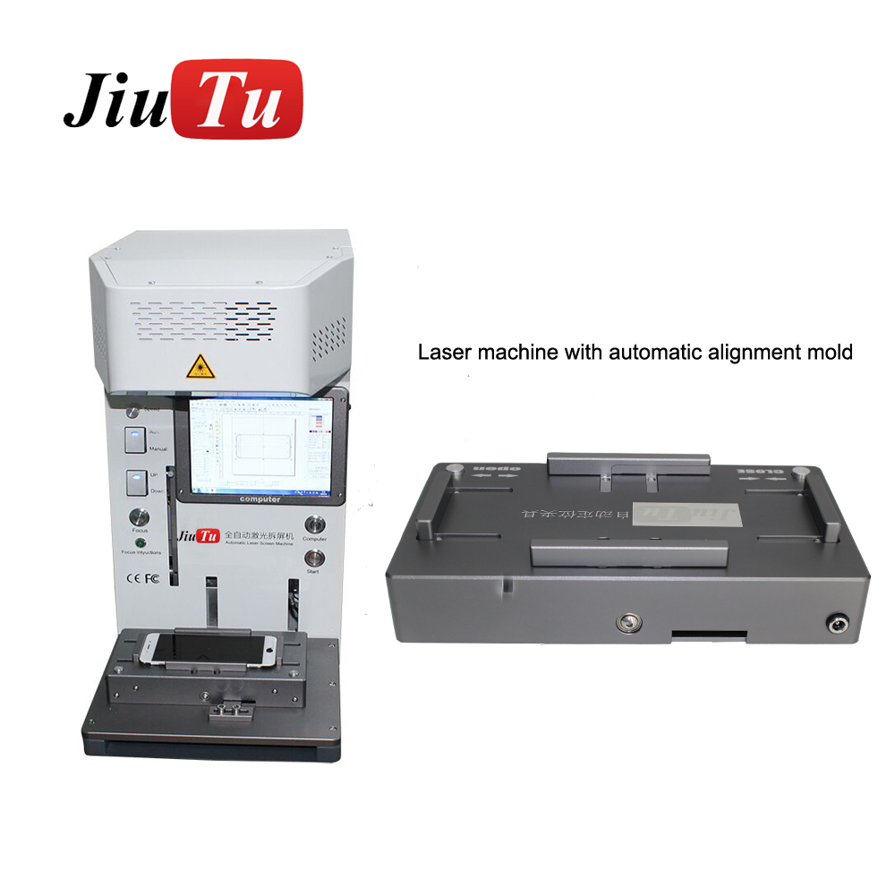 20W Optical Fiber Laser Engraving Marking Mobile Back Cover Frame Separator Separating Machine For iPhone Featured Image
